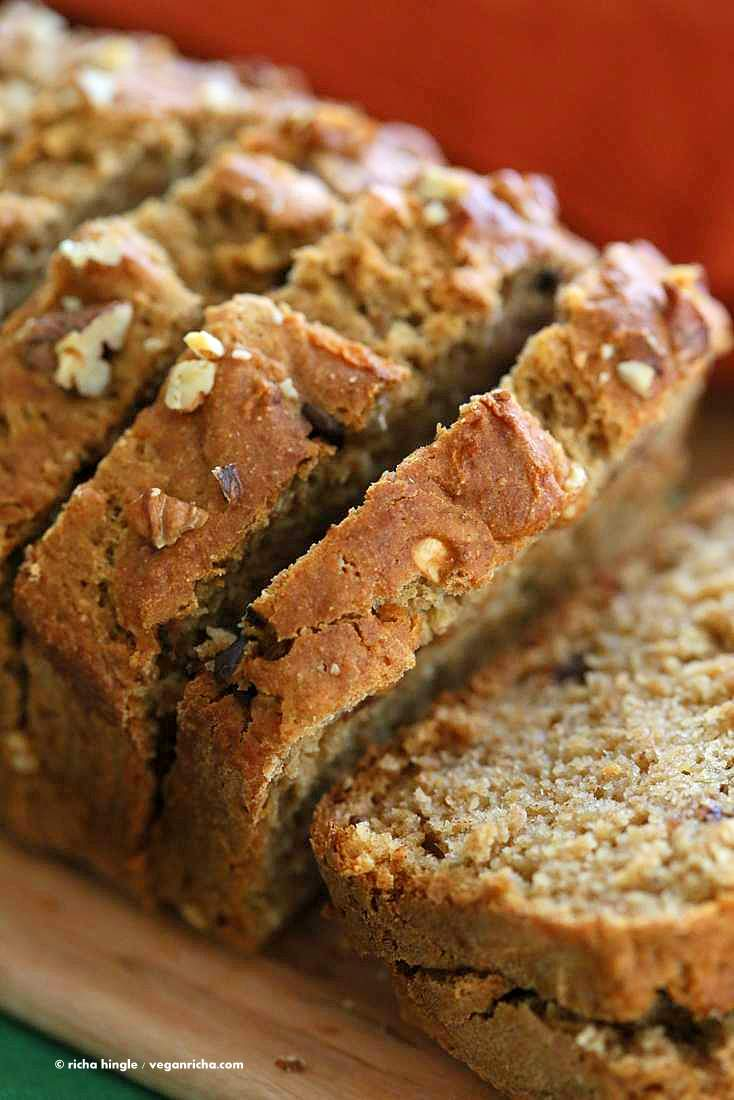 One Bowl Vegan Banana Apple Bread Vegan Richa