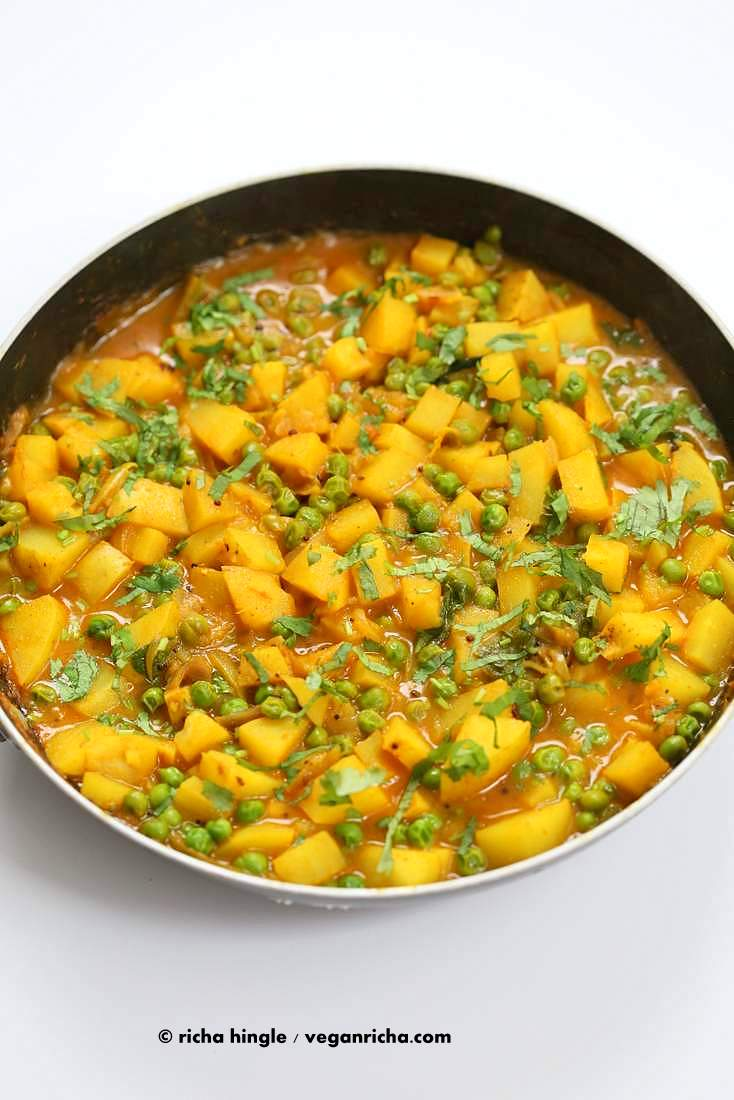 Vegan Bombay Potatoes and PeasVegan Richa