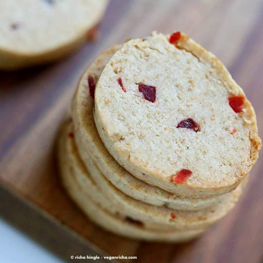 Vegan Coconut Oil Shortbread Cookies with Pumpkin Pie Spice   Vegan Richa #vegan #cookie #shortbread