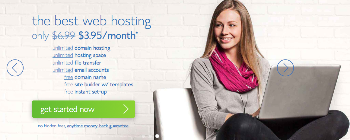 Hosting with Bluehost Homepage | How to Start a Blog by VeganRicha.com