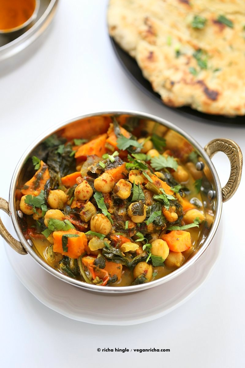 1 pot chickpea sweet potato spinach curry vegan richa easy one pot chickpea sweet potato spinach curry with indian spices use spices of choice forumfinder Images