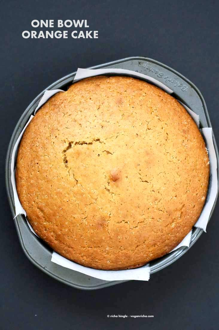 One Bowl Vegan Orange Cake Vegan Richa