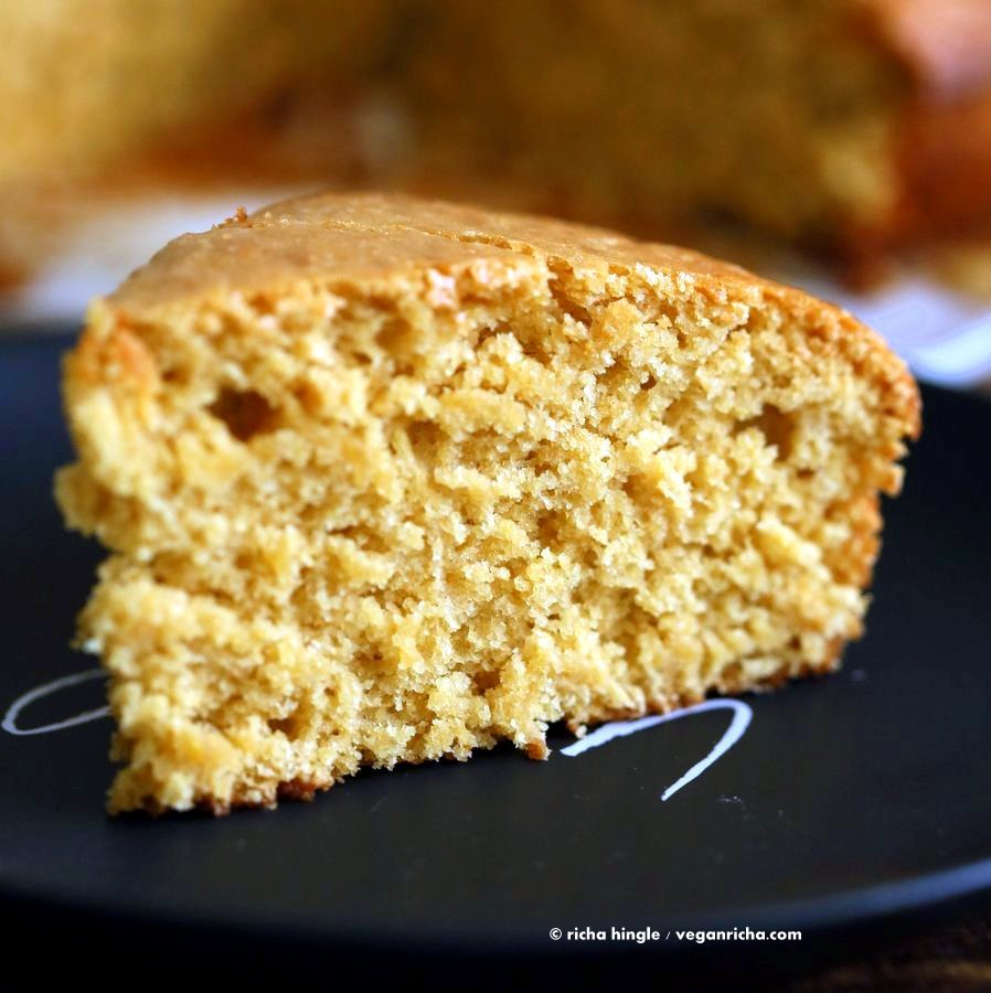 Vegan Orange Cake made in 1 Bowl and just 8 ingredients! Easy Moist Citrusy Vegan Cake. Soyfree Palm-Oil-free Recipe.