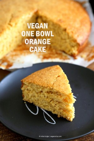 One Bowl Vegan Orange Cake