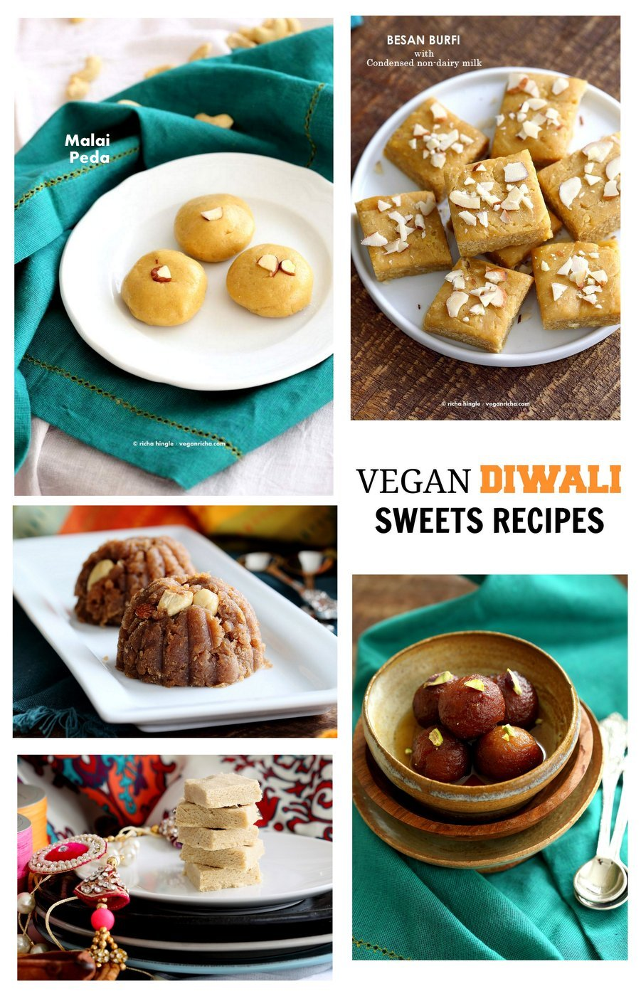 Vegan Diwali Sweets Recipes | Vegan Richa