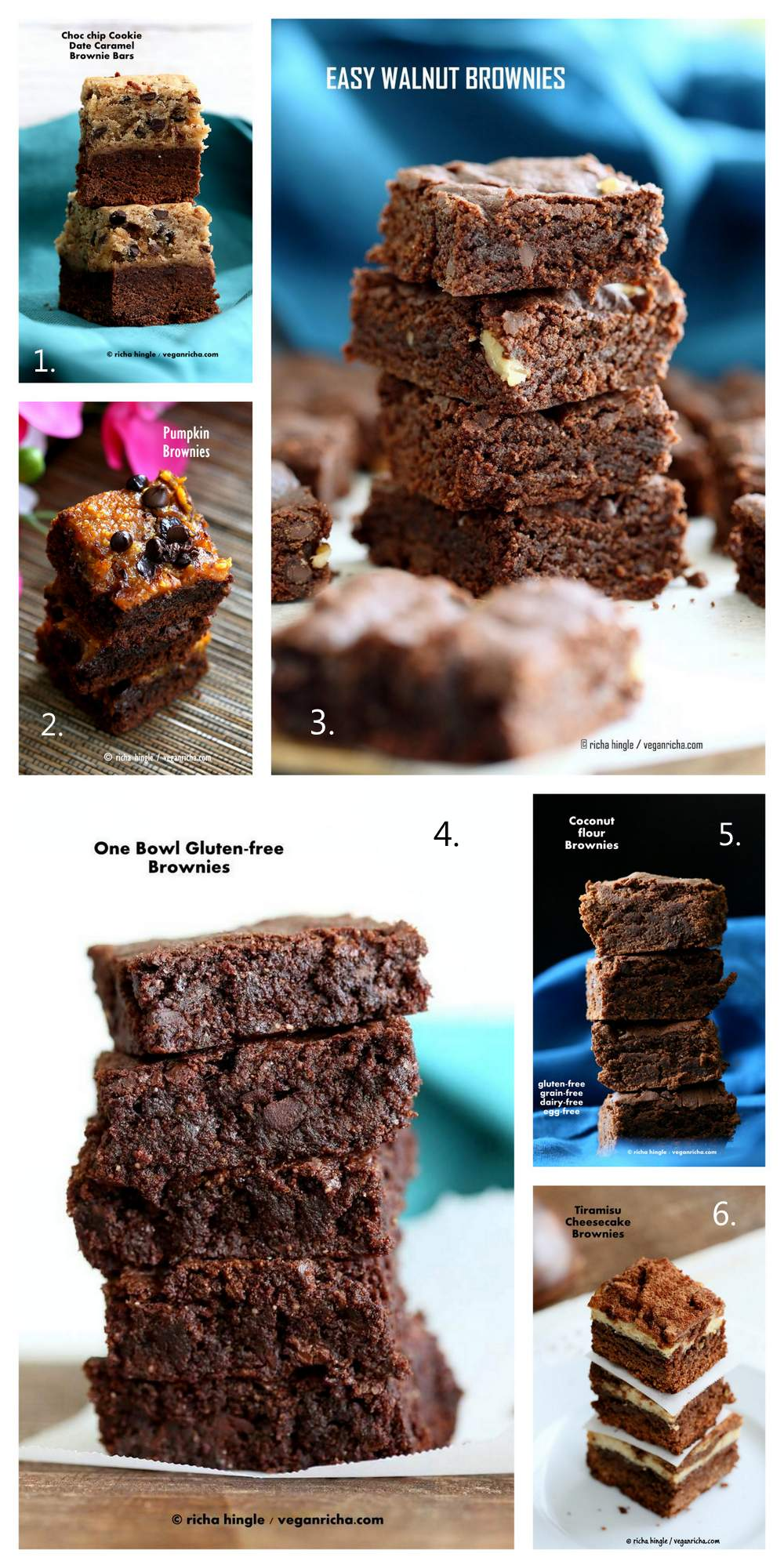 Vegan Holiday Brownie Recipes | VeganRicha.com #vegan #brownie