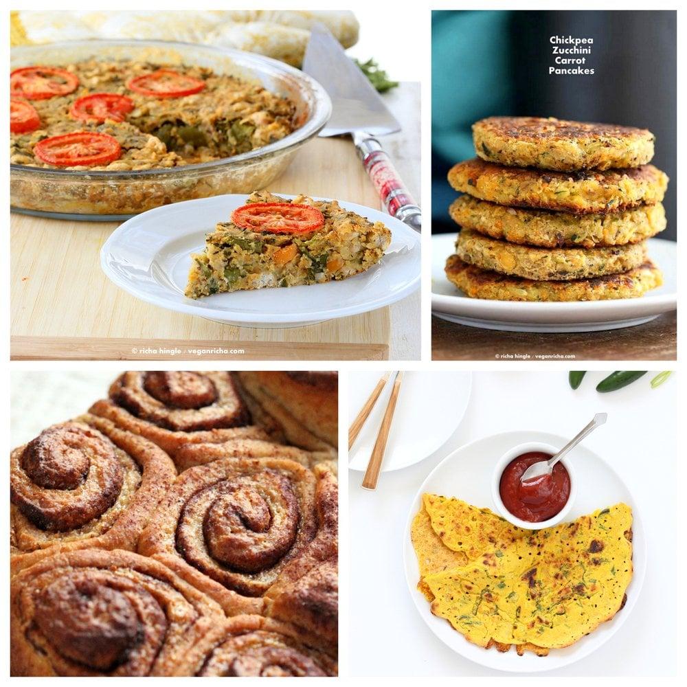Vegan Holiday Brunch Recipes Vegan Holiday Breakfast Recipes ! VeganRicha.com #vegan #breakfast #vegan #frittata #pancakes