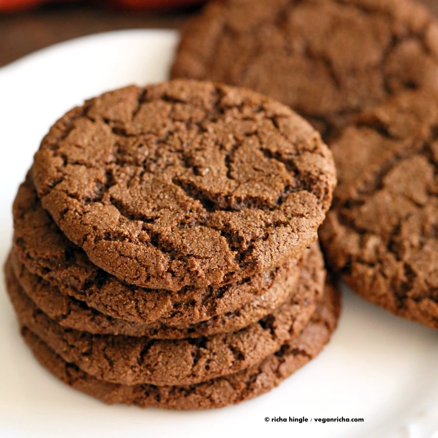 1 Bowl Giant Molasses Cookies Vegan Richa