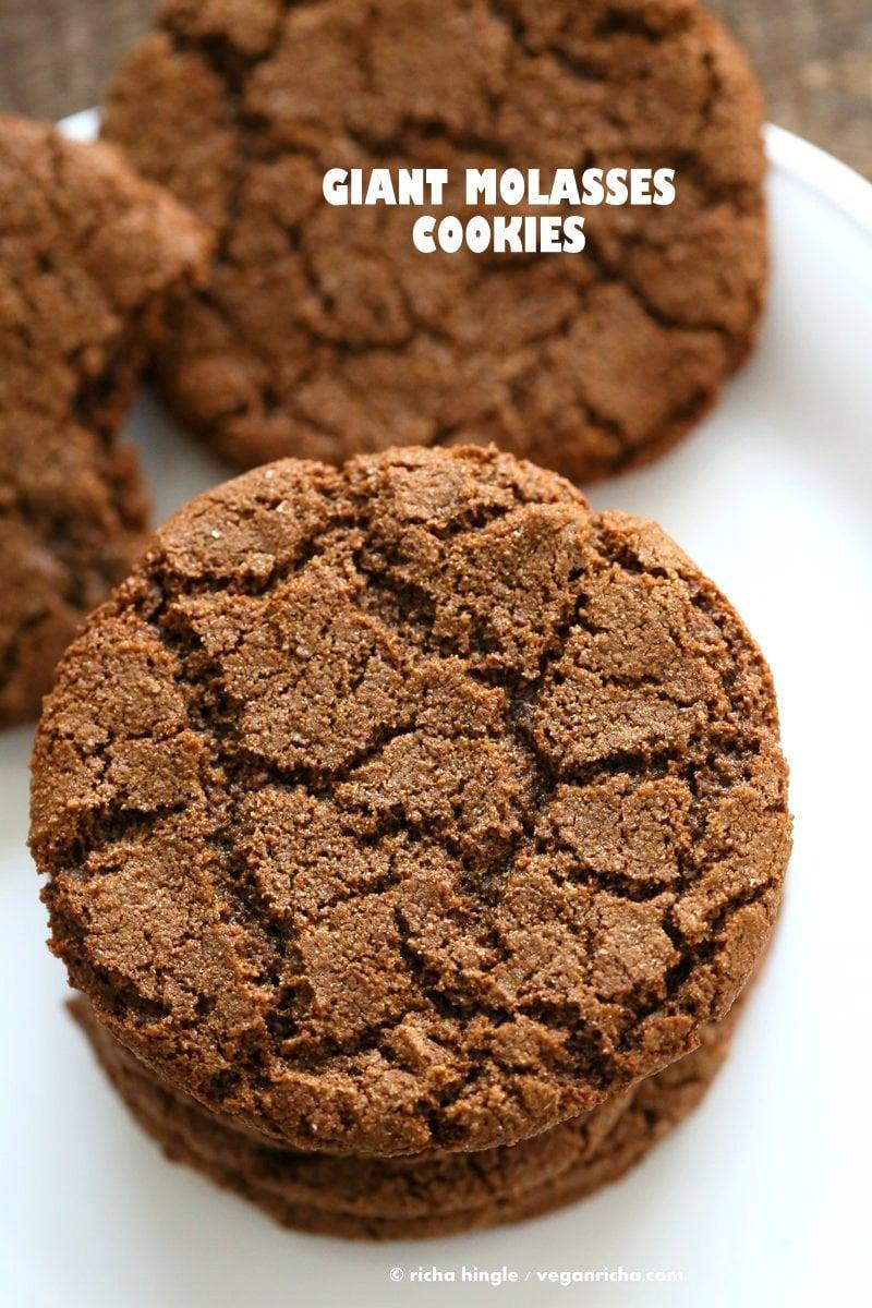 1 Bowl Giant Molasses Cookies Vegan Richa
