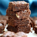 Easy Vegan Brownies Recipe. Fudgy, delicious. Add walnuts, peppermint, ginger, peanut butter swirl for variation | VeganRicha.com #vegan #brownie