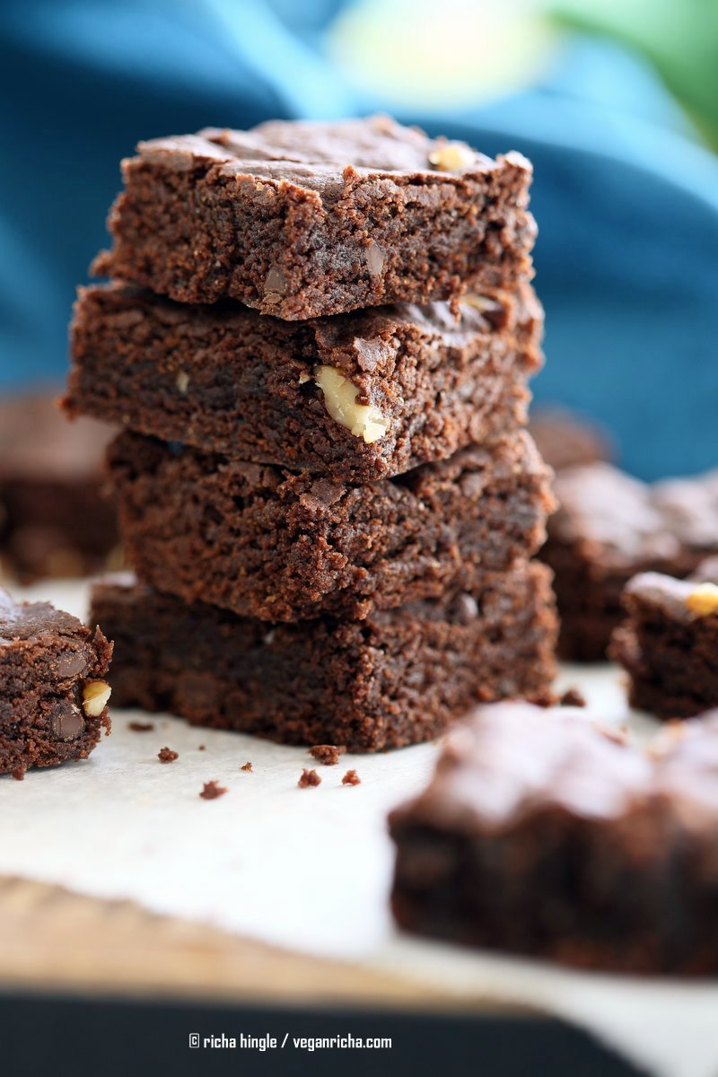 Easy Vegan Brownies Recipe Vegan Richa