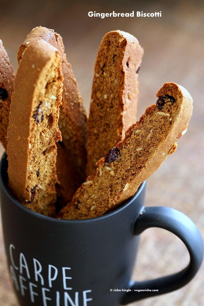 Vegan Gingerbread Biscotti - Vegan Richa