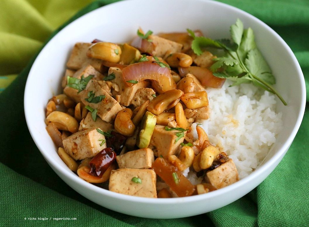 Cashew Tofu Stir Fry. Vegan Cashew Delight Recipe with Tofu and ...