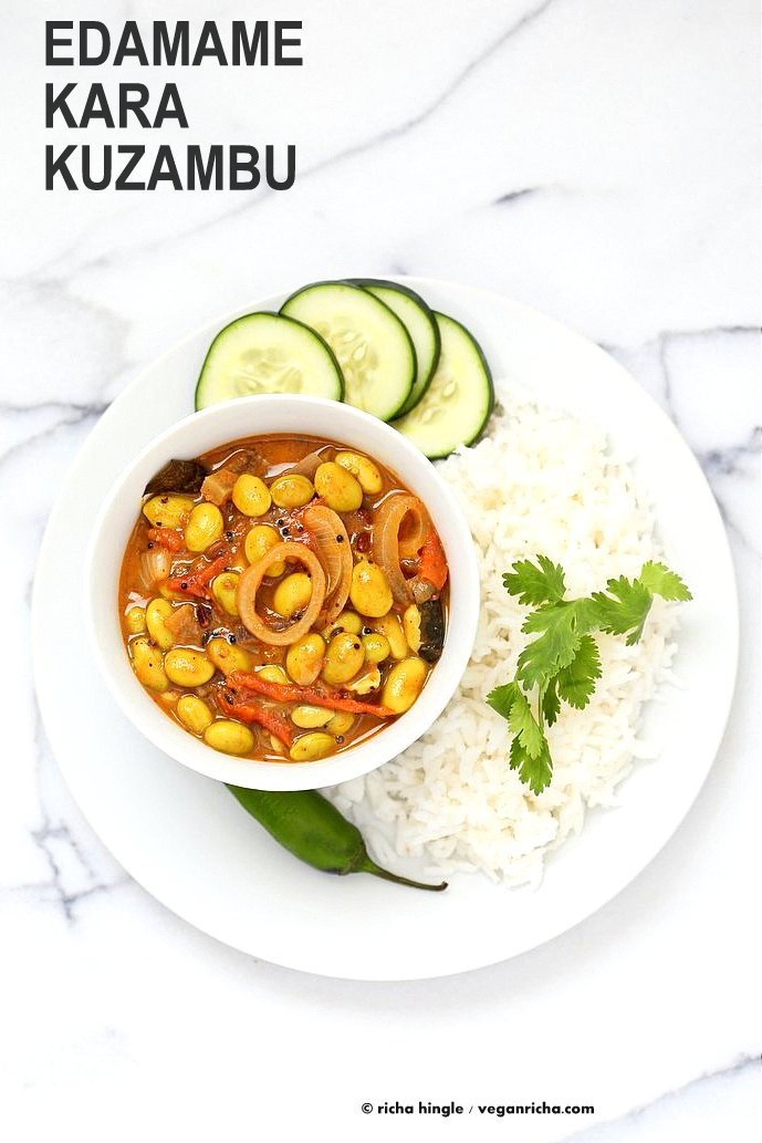 Edamame in tangy south indian curry edamame kara kuzambu vegan richa edamame in tangy south indian curry edamame kara kuzambu use other beans or chickpeas forumfinder Choice Image