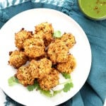 Broccoli, Cauliflower, potatoes, carrots and greens in this Mixed Vegetable Pakora. Baked Veggie Pakore Bhajjiya. Vegan Soyfree Recipe. Easily Glutenfree | VeganRicha.com #glutenfree #veganricha #vegan