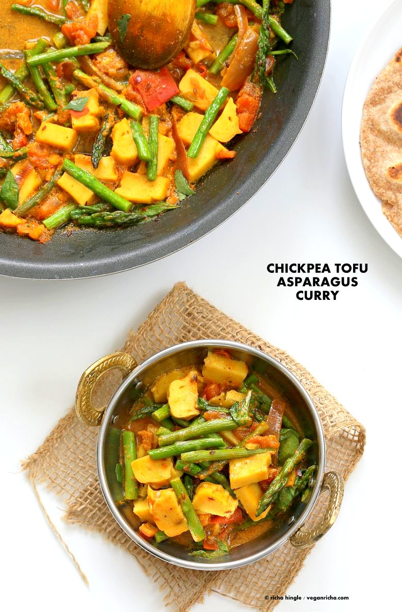 Asparagus curry with spinach chickpea tofu vegan richa easy asparagus curry with chickpea tofu and indian spices indian vegan gluten free soy forumfinder Images