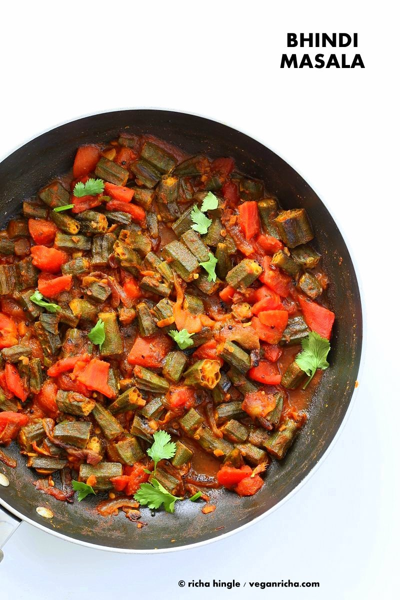 Bhindi masala recipe okra in onion tomato curry vegan richa bhindi masala recipe indian okra curry lightly spiced okra in onion tomato curry forumfinder Image collections