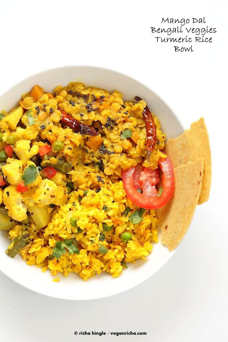 Bengali mixed veggies charchari recipe vegan richa bengali mixed veggies charchari recipe cauliflower potato green beans peas with bengali eastern forumfinder Choice Image