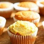 One Bowl Vegan Mango Cupcakes. Easy Mango Cupcake or Cake Recipe. Whisk up the dry ingredients. Add in mango puree and bake. Easy tropical cupcakes. Frost with frosting of choice. Vegan Recipe | VeganRicha.com #vegan #glutenfree #veganricha