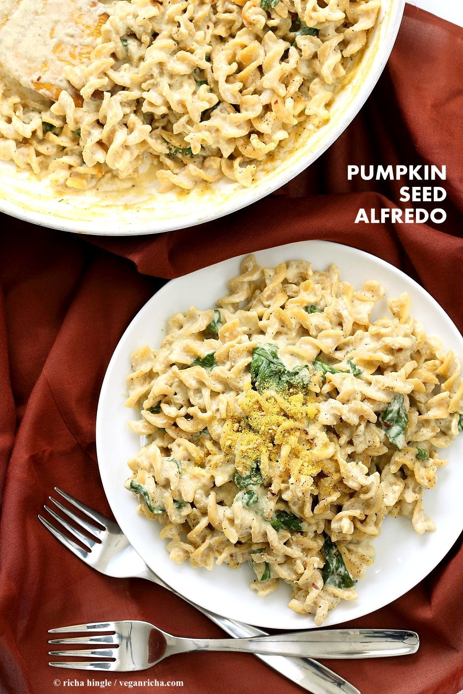 Pumpkin seed alfredo fusilli nut free vegan alfredo recipe vegan nut free vegan alfredo recipe easy cashew free alfredo forumfinder Image collections