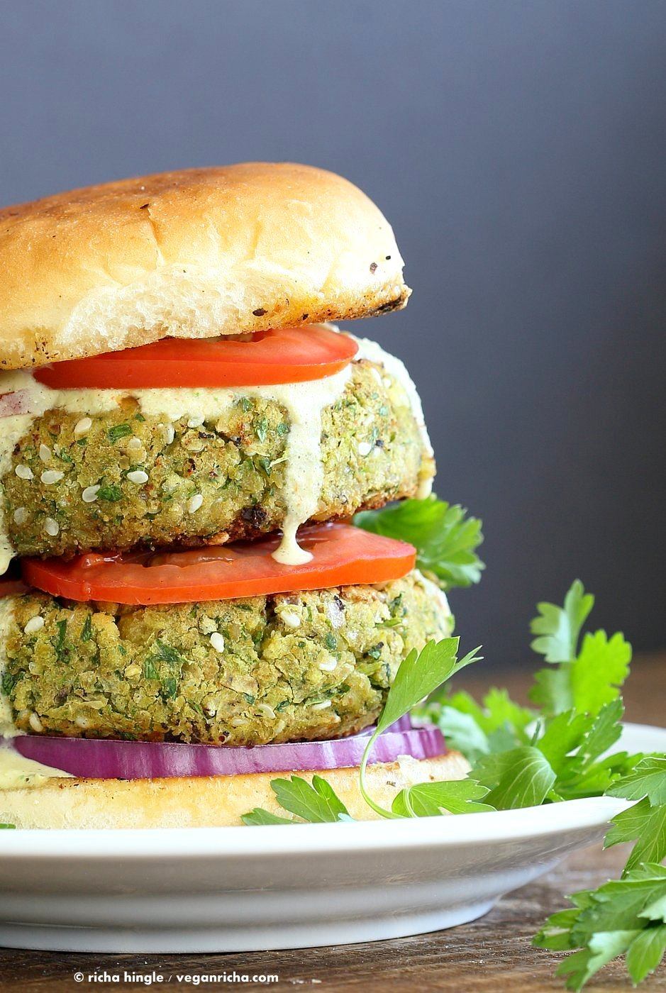 Easy Vegan Falafel Burger Recipe - Vegan Richa
