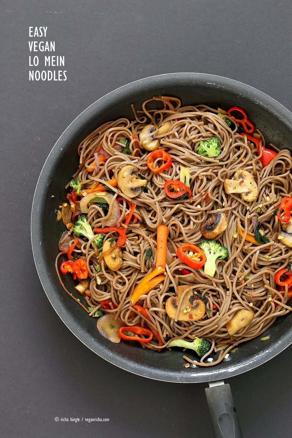 Vegan lo mein with soba noodles vegan richa vegan lo mein with soba noodles forumfinder Choice Image