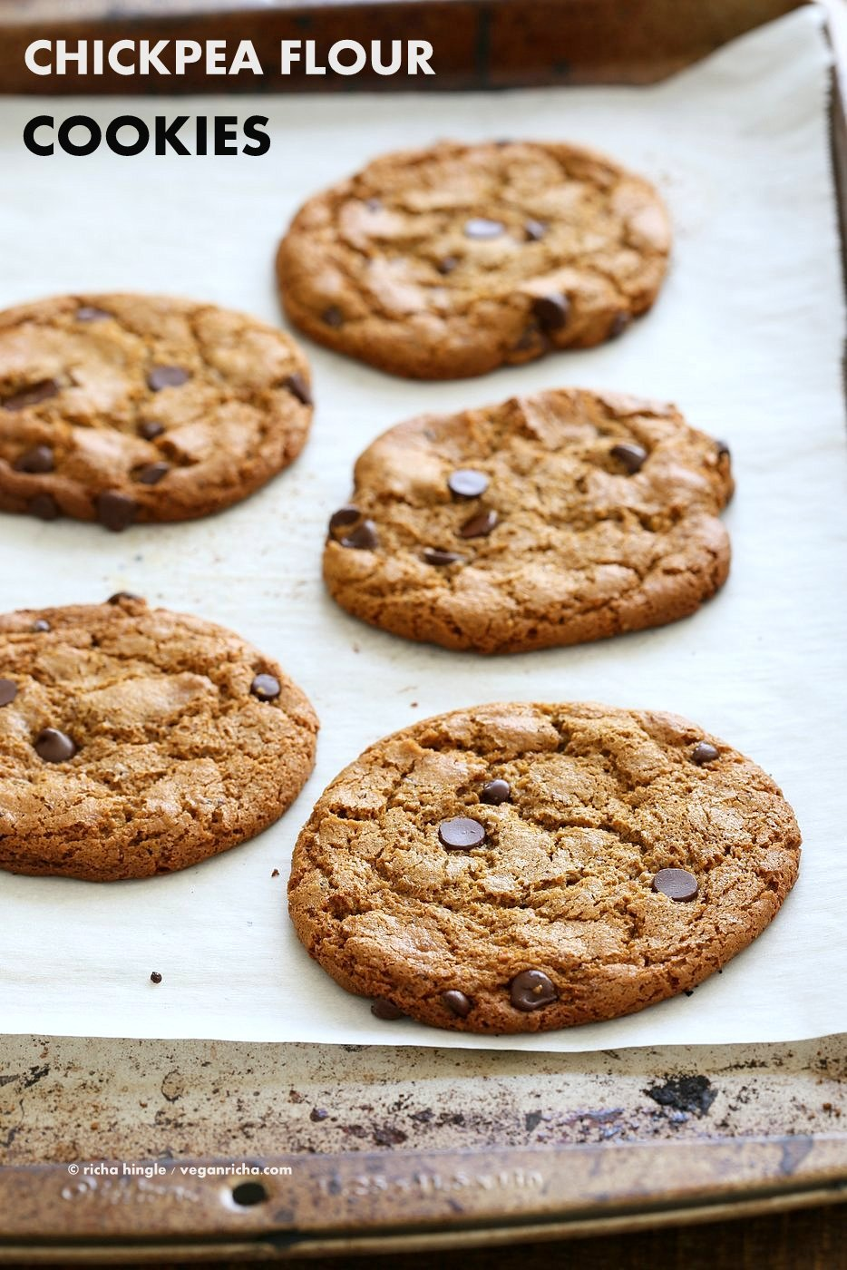 Chickpea Chocolate Chip Cookies Nut Free