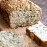 Vegan Gluten free Zucchini Bread Recipe. Moist, soft Zucchini Bread loaded with Oats, Chia seeds, Zucchini. Vegan Gluten-free gum-free Soy-free Recipe | VeganRicha.com #glutenfree #veganricha #vegan