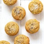 Lemon Coconut Chia Muffins. Zesty Muffins with Lemon, chia seeds, coconut and Turmeric. 1 bowl 20 minute muffins. Vegan Soy-free Nut-free Oil-free Recipe | VeganRicha.com