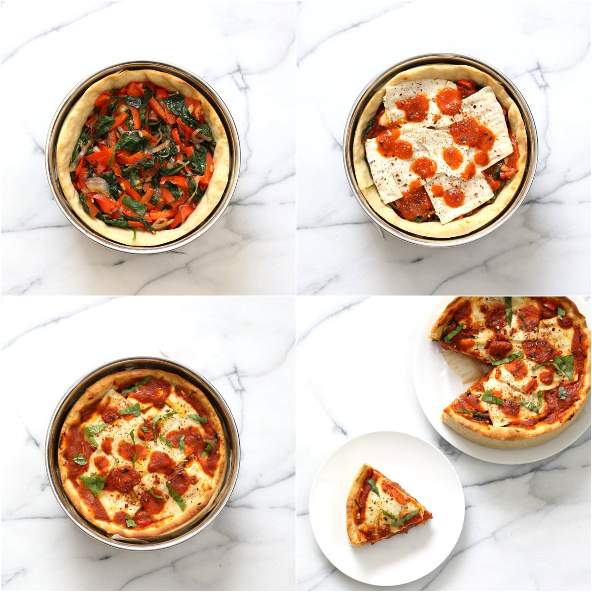 Vegan Deep Dish Pizza Recipe - 20 min Crust! - Vegan Richa