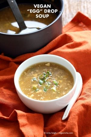 Vegan Egg Drop Soup Recipe