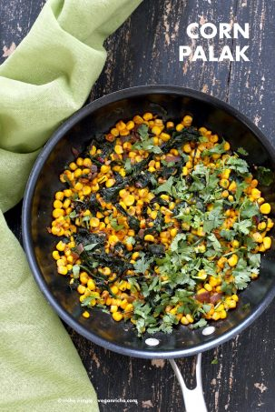 Corn Palak – Curried Corn and Greens