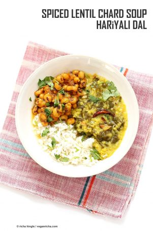 Spiced Lentil Chard Soup – Hariyali Dal