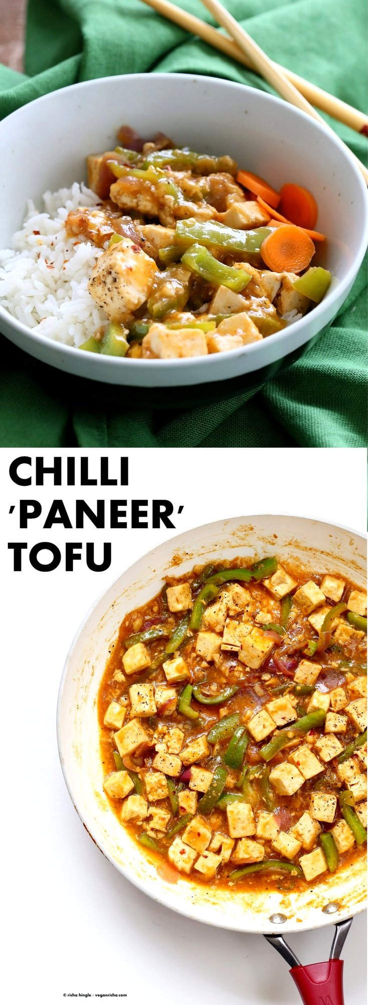 Chilli tofu indian chilli paneer recipe vegan richa chilli tofu indian chilli paneer recipe chilli paneer is an indo forumfinder Images