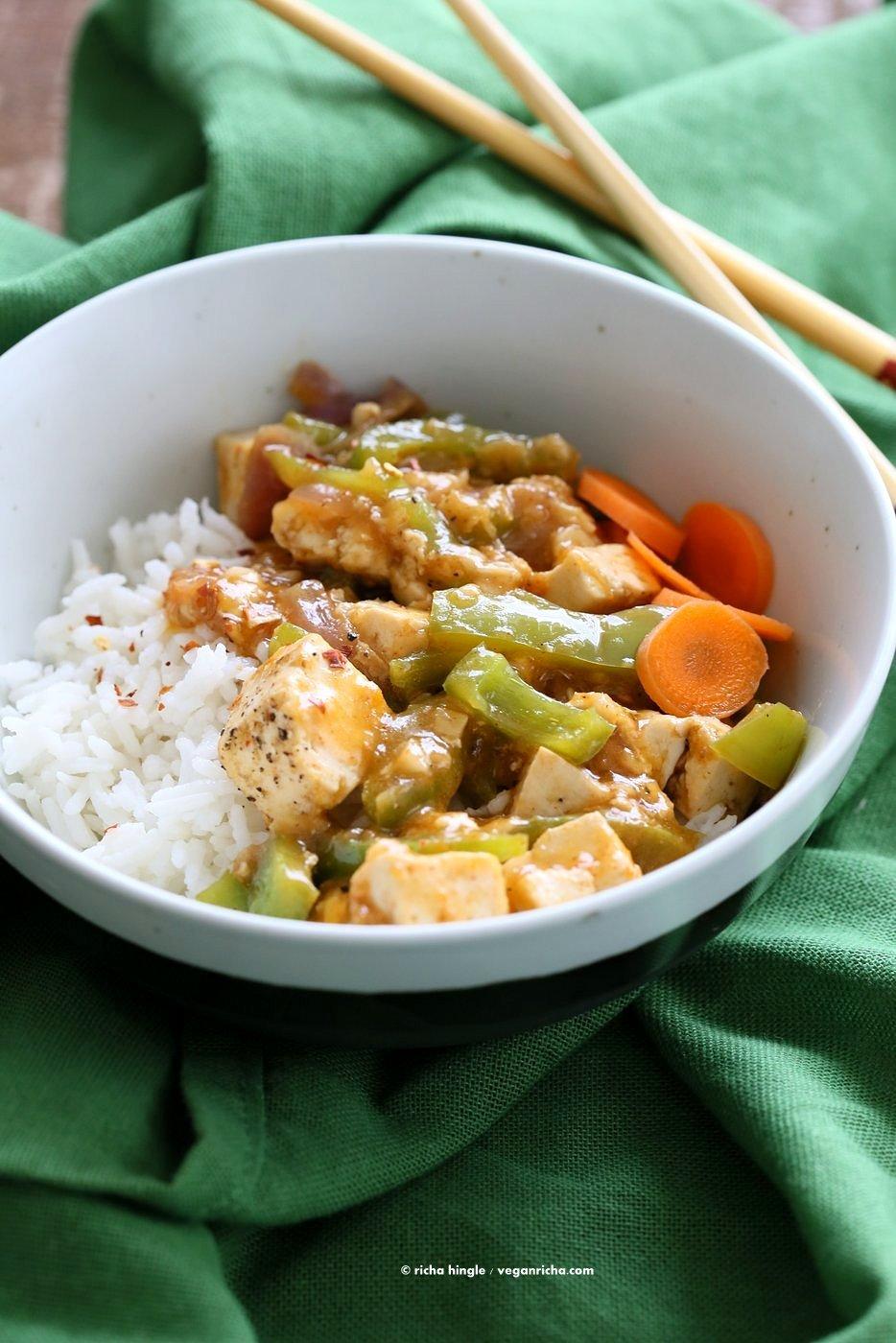 Chilli tofu indian chilli paneer recipe vegan richa chilli tofu indian chilli paneer recipe chilli paneer is an indo forumfinder Choice Image