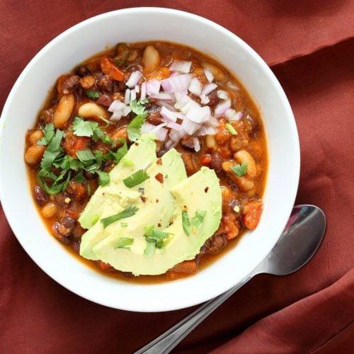 1 Pot Cannellini And Black Bean Chili Recipe Vegan Richa