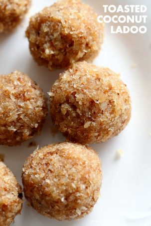 Toasted Coconut Balls – Toasted Coconut Ladoo