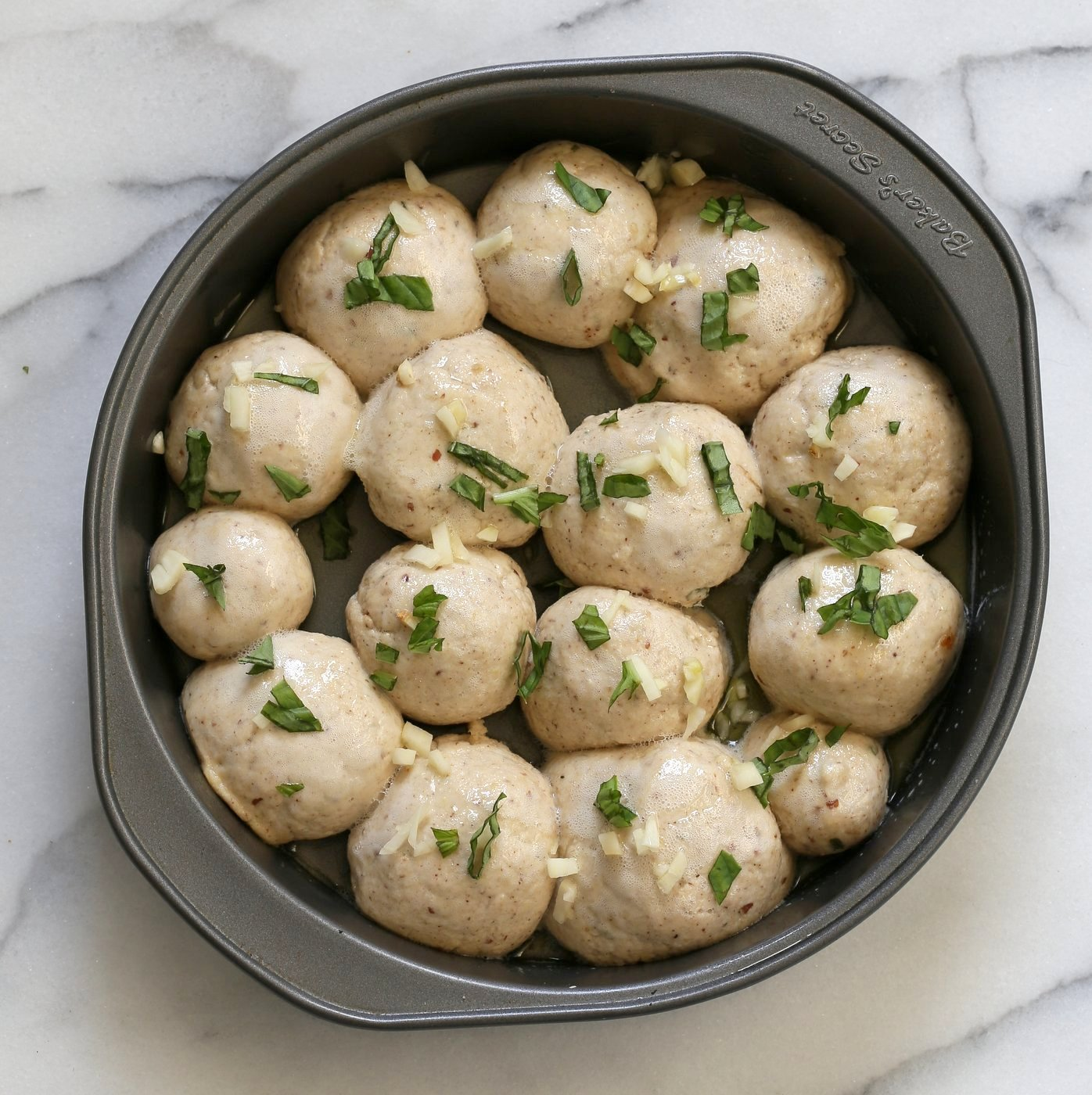 Vegan Gluten free Dinner Rolls with Garlic and Basil. Soft Puffy Gluten-free Dinner Rolls with fresh basil and garlic. Vegan Gluten-free Soy-free Recipe | VeganRicha.com