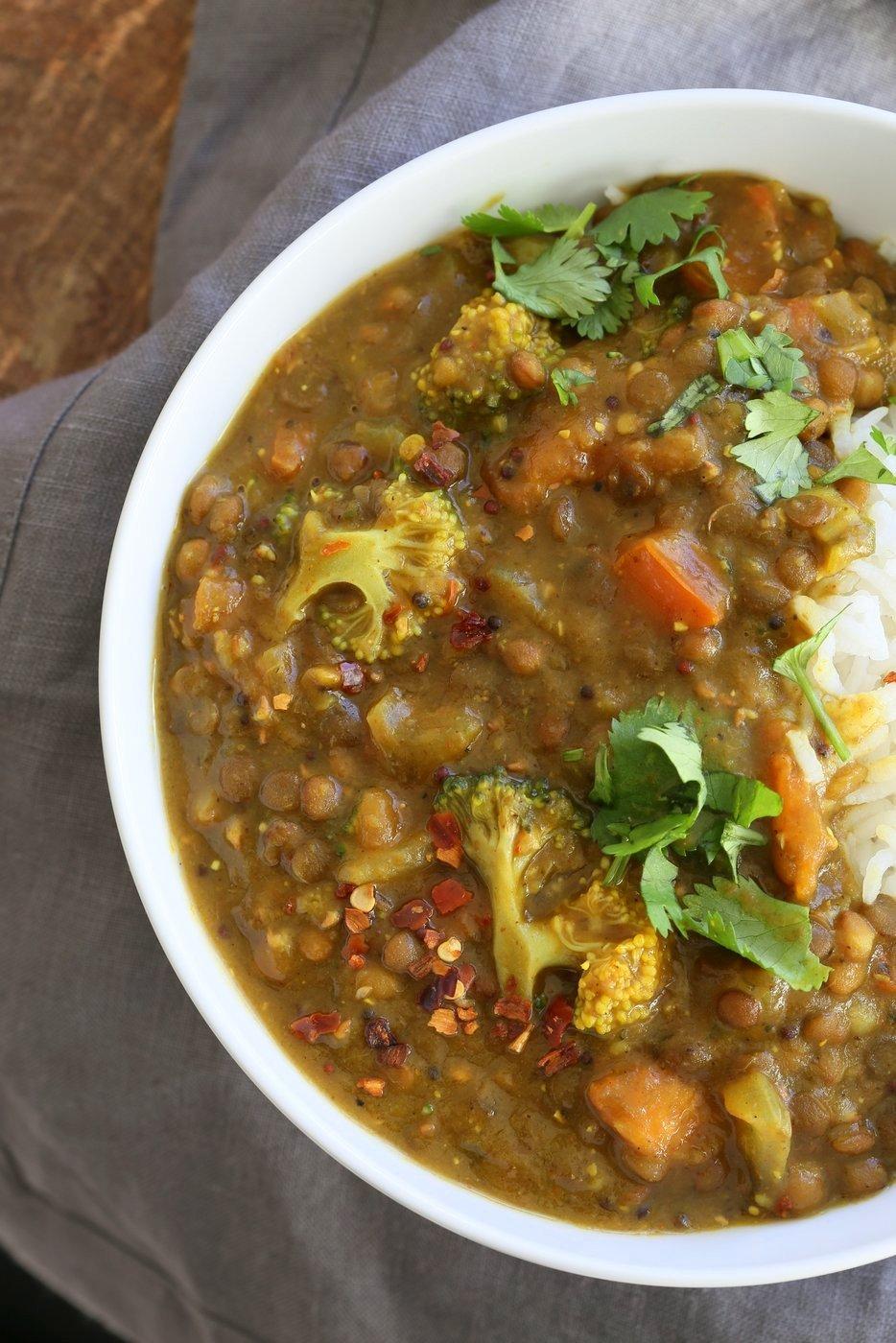 Brown Lentil Soup With Broccoli Fenugreek Amp Black Pepper