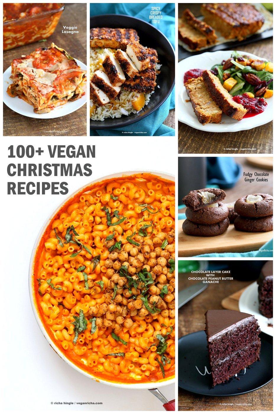 100 Vegan Christmas Recipes Glutenfree options - Vegan Richa