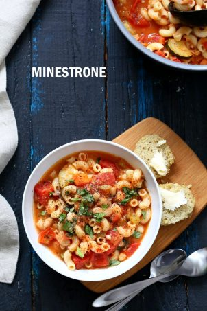 Vegan Minestrone – Veggies Pasta & White Bean Soup