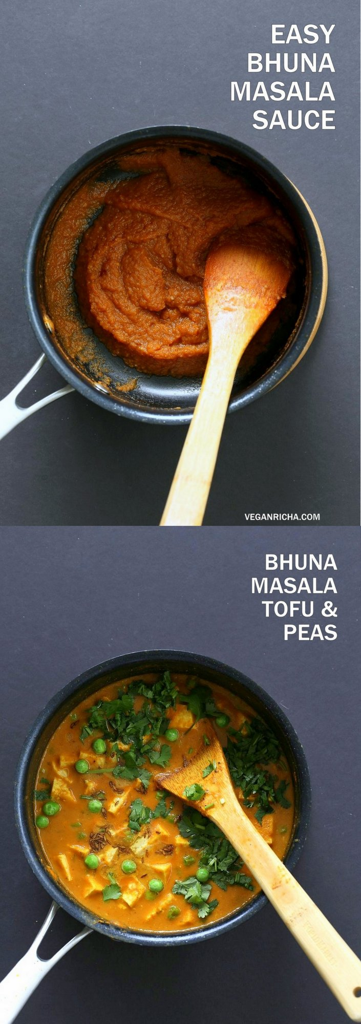 Easy Bhuna Masala Sauce for Indian curries. 1 Pot 30 Minute Masala Sauce. Bhuna means roasted. Use this roasted masala simmer sauce for quick curries. Add non dairy milk or cashew cream or yogurt. #Vegan #Glutenfree #Recipe #VeganRicha | VeganRicha.com
