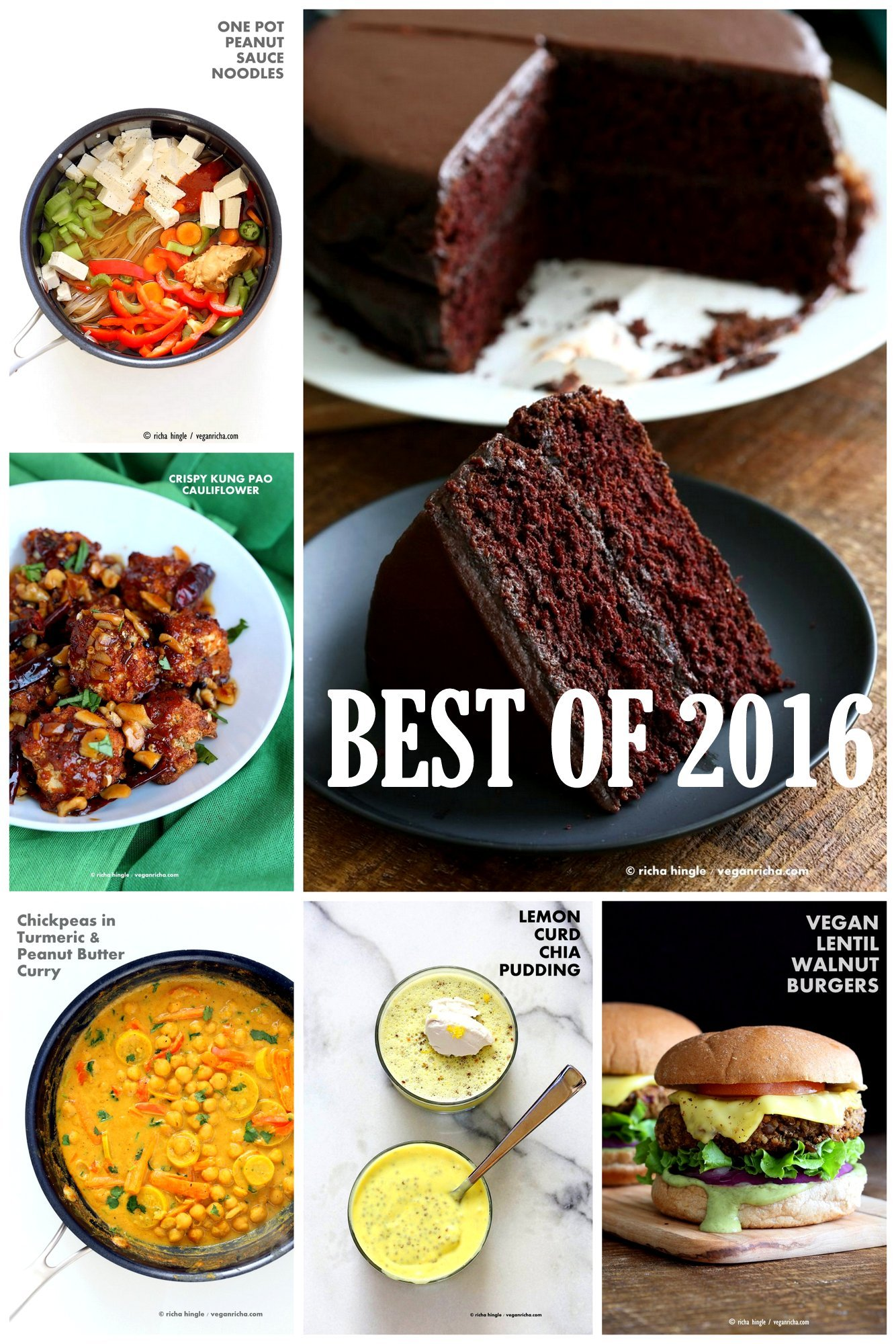 Best Vegan Recipes 2016. Top Recipes of the year from the blog. Amazing Vegan Gluten-free Soy-free Healthy Recipes. 16 Popular Posts o #veganricha #vegan #recipe VeganRicha.com