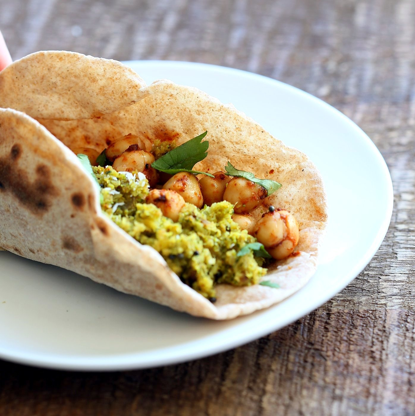 Broccoli Stir fry with Indian Spices - Broccoli Sabji with mustard seeds, coriander, fenugreek, turmeric and cinnamon. 1 pot, 20 mins. #Vegan #Glutenfree #Soyfree #Broccoli #Recipe. Serve as a side, or with dal, or fill up a taco or wrap.   VeganRicha.com