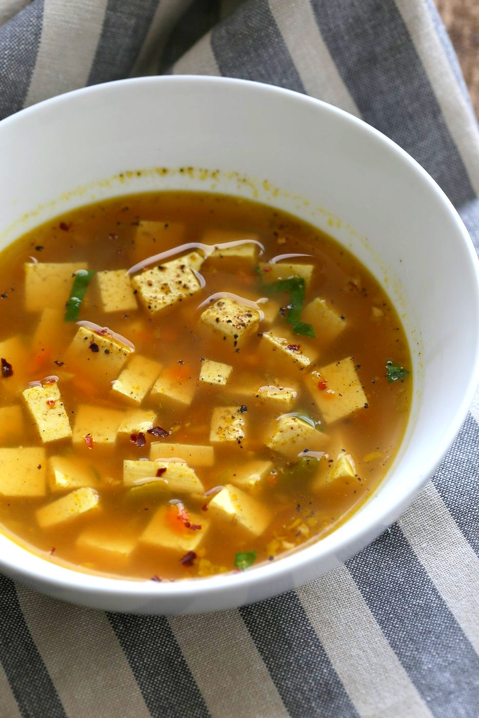 Turmeric Miso Soup With Ginger Garlic And Tofu Vegan Richa