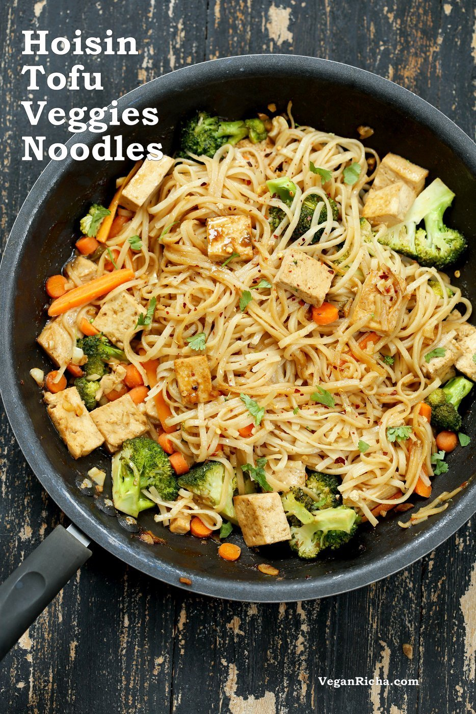 Tofu And Brown Rice Noodles In Hoisin Sauce Vegan Richa