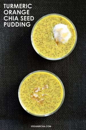 Golden Milk Chia Pudding with Orange & Ginger