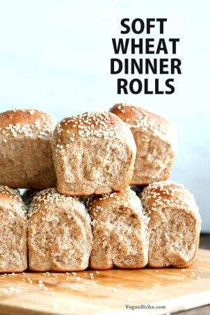 Soft Whole Wheat Dinner Rolls with Tanzhong starter