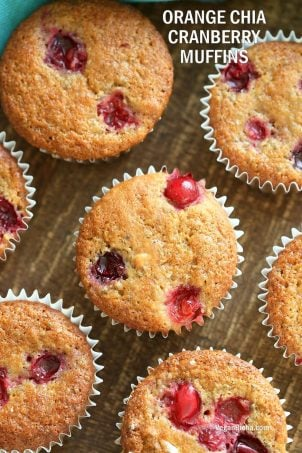 Blender Chia Orange Cranberry Muffins