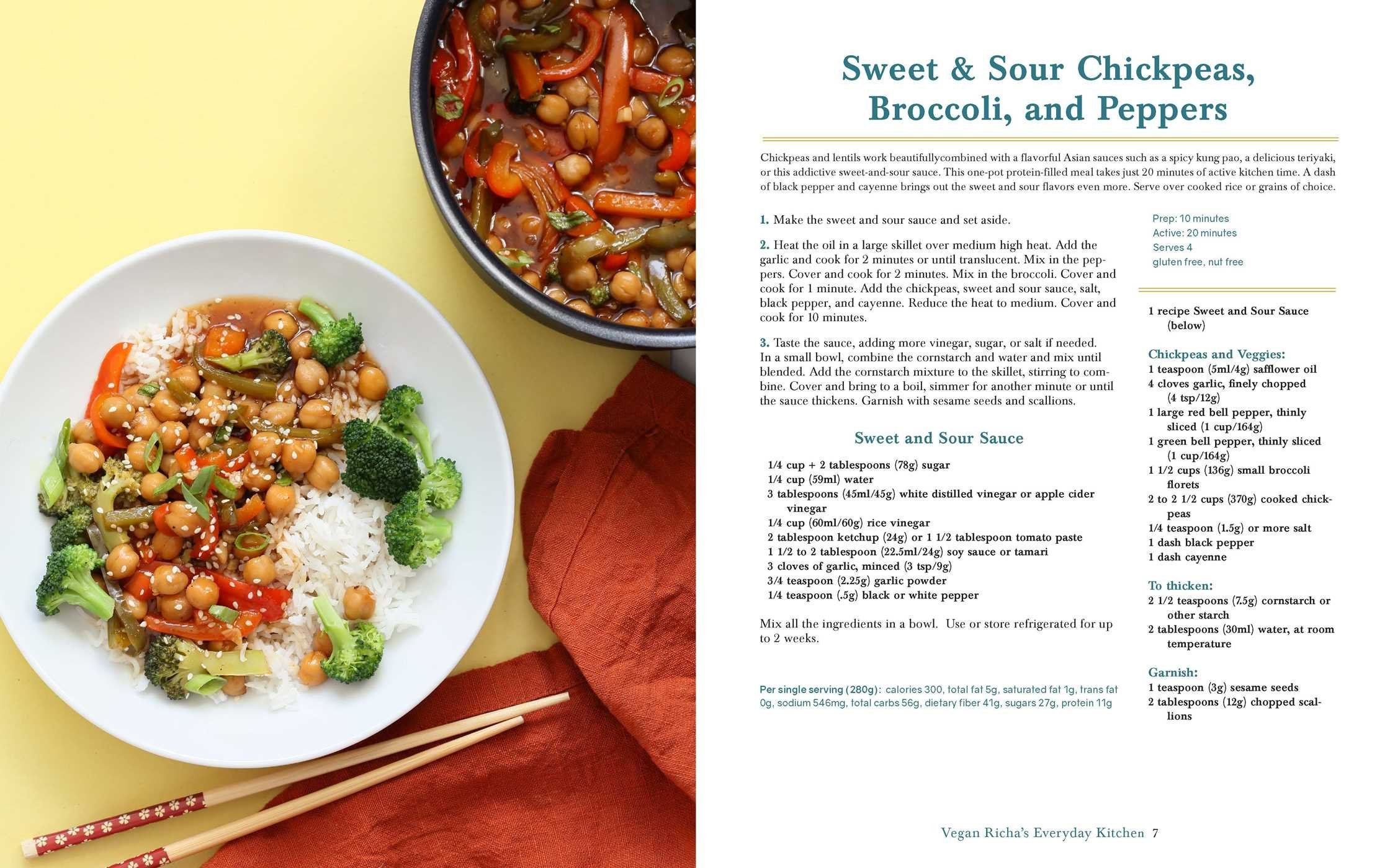 Sweet and Sour Chickpeas from Vegan Richa's Everyday Kitchen